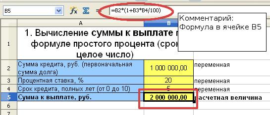 формула процентов годовых кредит кредит новинка января